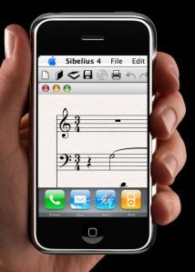 Sibelius on the iPhone