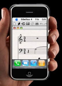 Sibelius on the iPhone