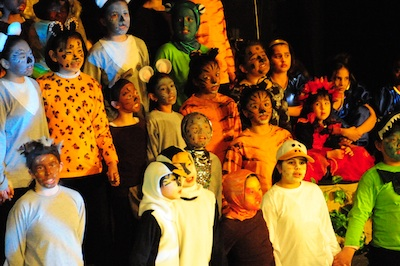 Children performing my Children's opera, Kiravanu