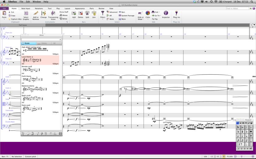 Score in Sibelius