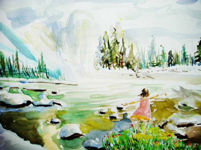 Pebble portfolio watercolour