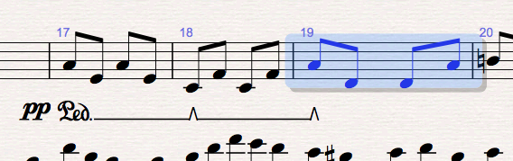 Piano, vibes etc. pedalling workflow in Sibelius (3/4)